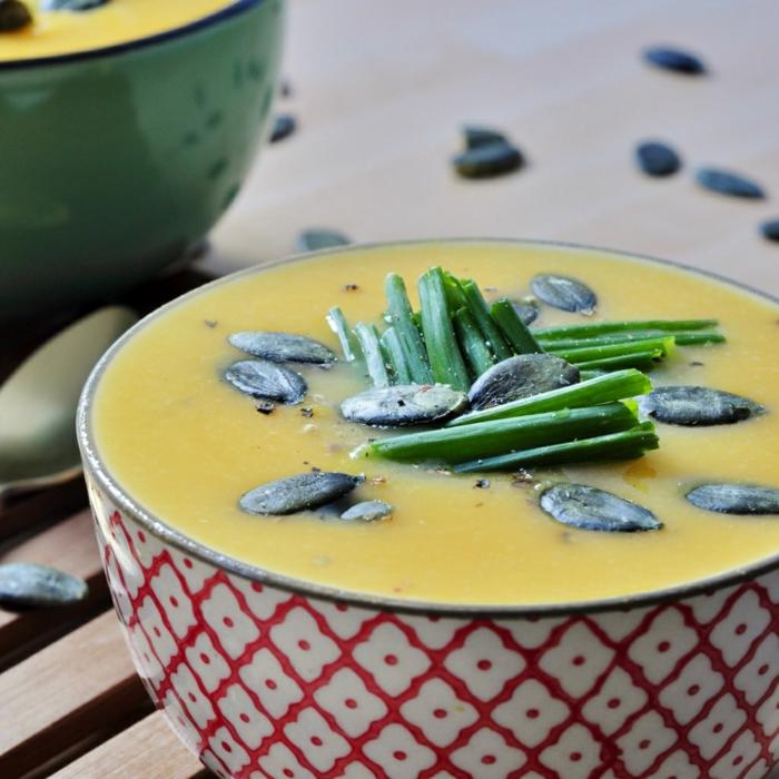 kürbiskerne gesund gesunde suppe zubereiten