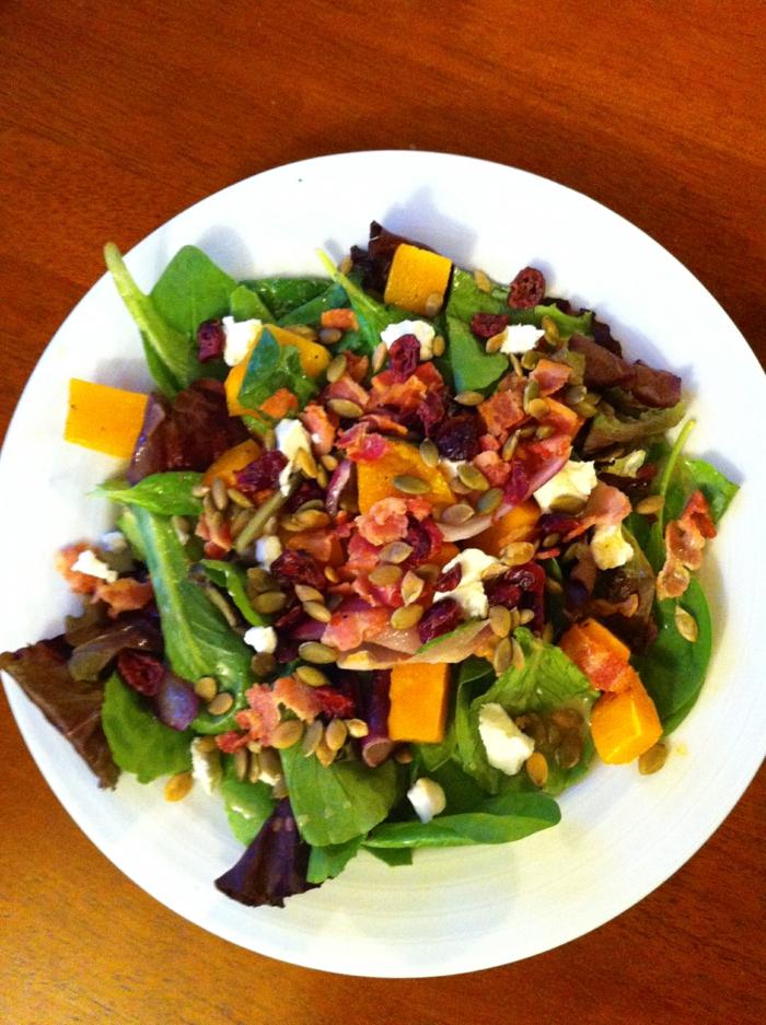 kürbiskerne nährwerte salat dressing gesundes essen