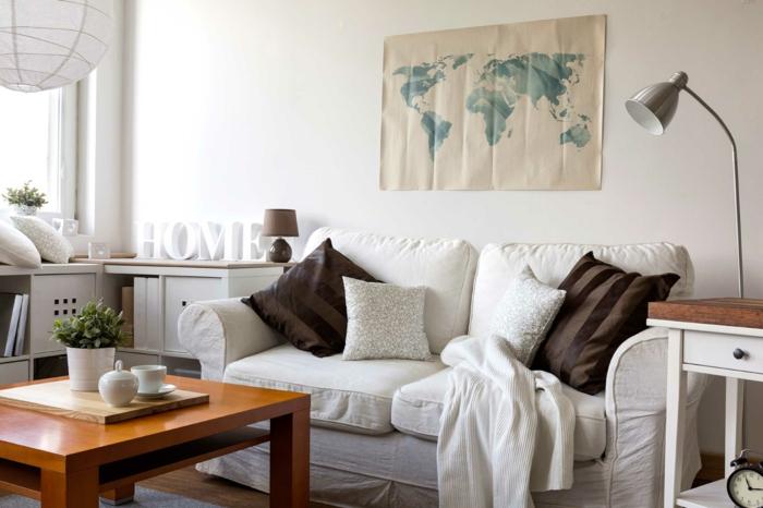 Kleikleine Wohnung Einrichten Dekoartikel Wanddekoration Stehlampe  Wohnzimmer Ideen