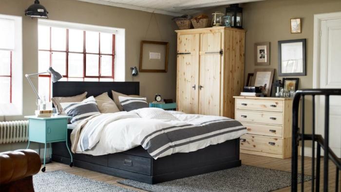 kleines schlafzimmer gestalten schlafzimmer gardinen indireckte beleuchtung hell ikea4