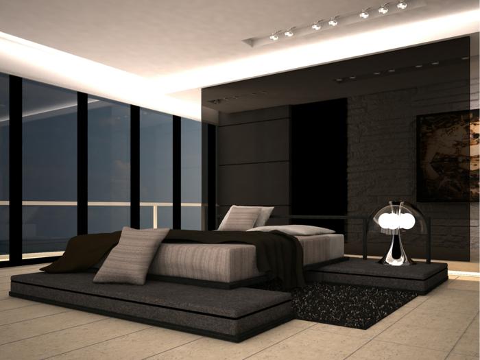 kleines schlafzimmer gestalten schlafzimmer gardinen indireckte beleuchtung hell ikea9