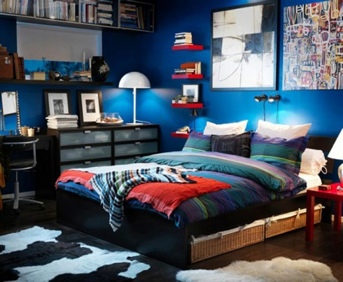 kleines schlafzimmer gestalten schlafzimmer gardinen indireckte beleuchtung hell sstilvoll ikea16