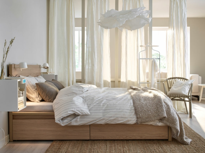 Kleines Schlafzimmer Gestalten Schlafzimmer Gardinen Indireckte Beleuchtung  Hell Sstilvoll Ikea18