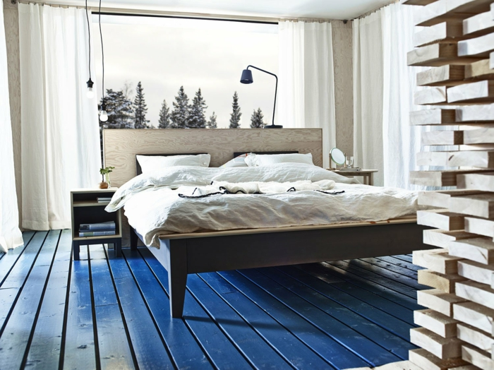 Schlafzimmergestaltung Violett