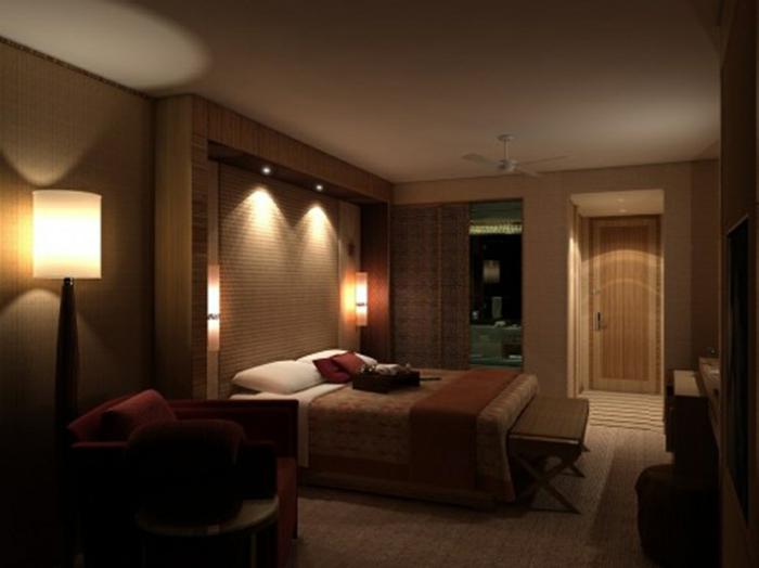 kleines schlafzimmer gestalten schlafzimmer gardinen indireckte beleuchtung