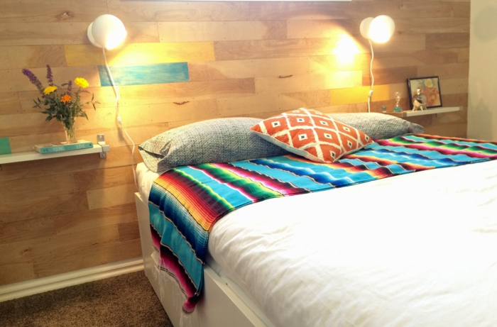 kreative wandgestaltung mit farbe wanddesign ideen dachboden holz