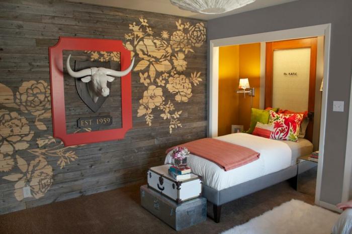 23 kreative wandgestaltung ideen f r das g stezimmer. Black Bedroom Furniture Sets. Home Design Ideas
