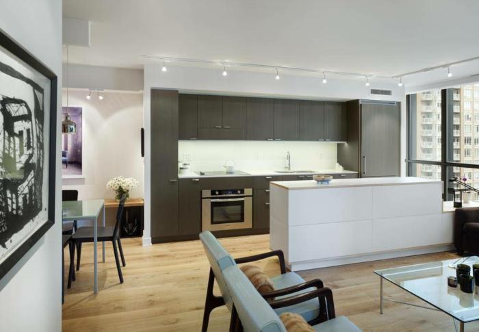 lampe küche essbereich leuchten weiße kücheninsel offener wohnplan