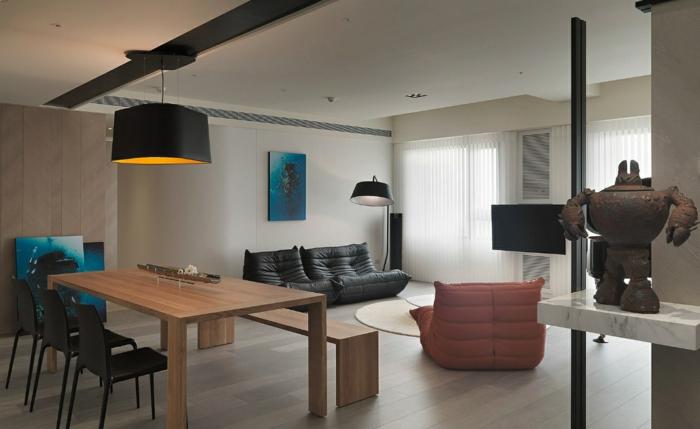 lampe küche hängelampe essbereich beleuchten offener wohnplan