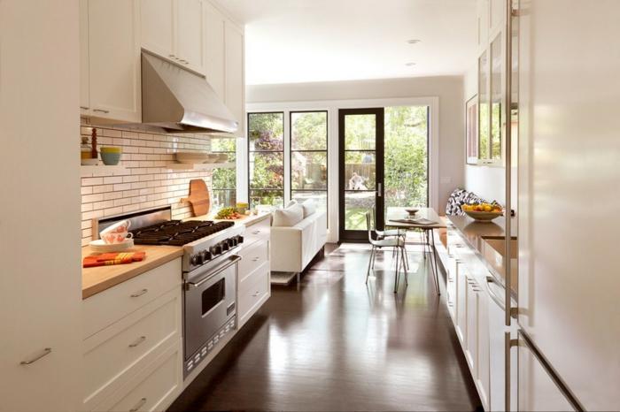 modern einrichten offener grundriss küche wohnbereich wohnideen