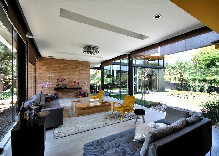 modern einrichten teppich bereiche absondern graue sofas