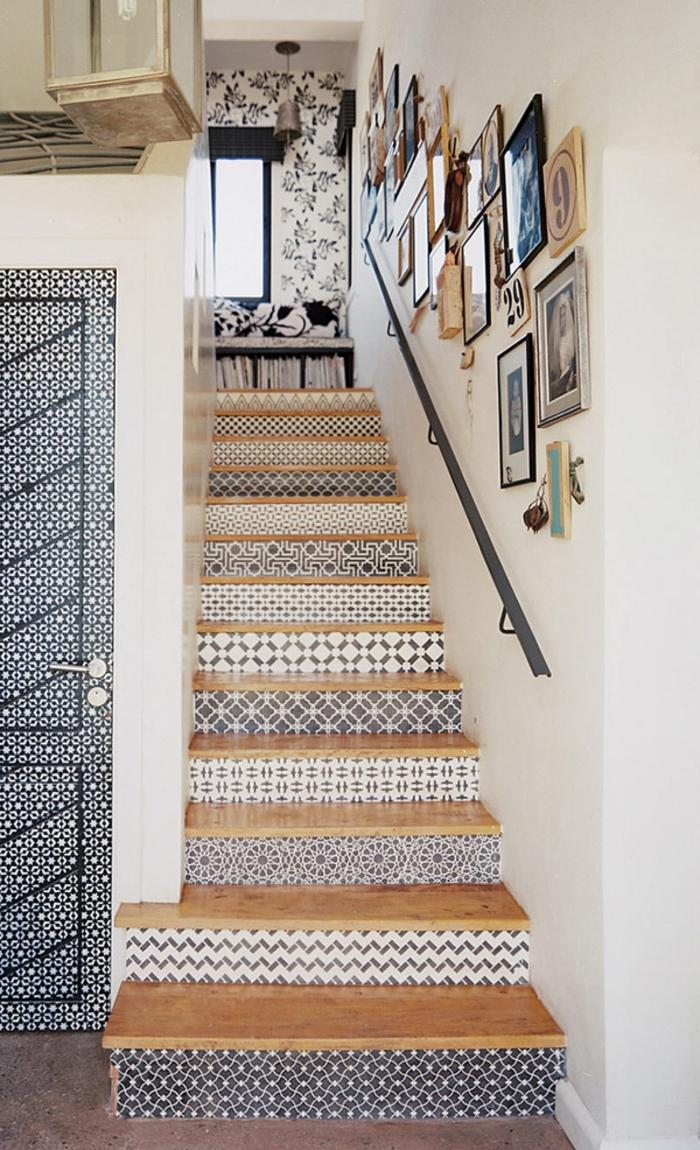modern einrichten treppenhaus dekoideen eingangstür wohnideen