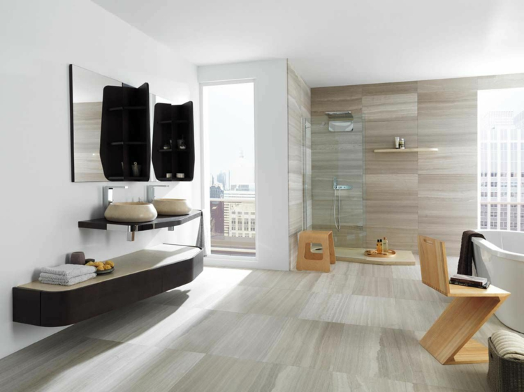 travertin fliesen im badezimmer gestaltungsm glichkeiten. Black Bedroom Furniture Sets. Home Design Ideas