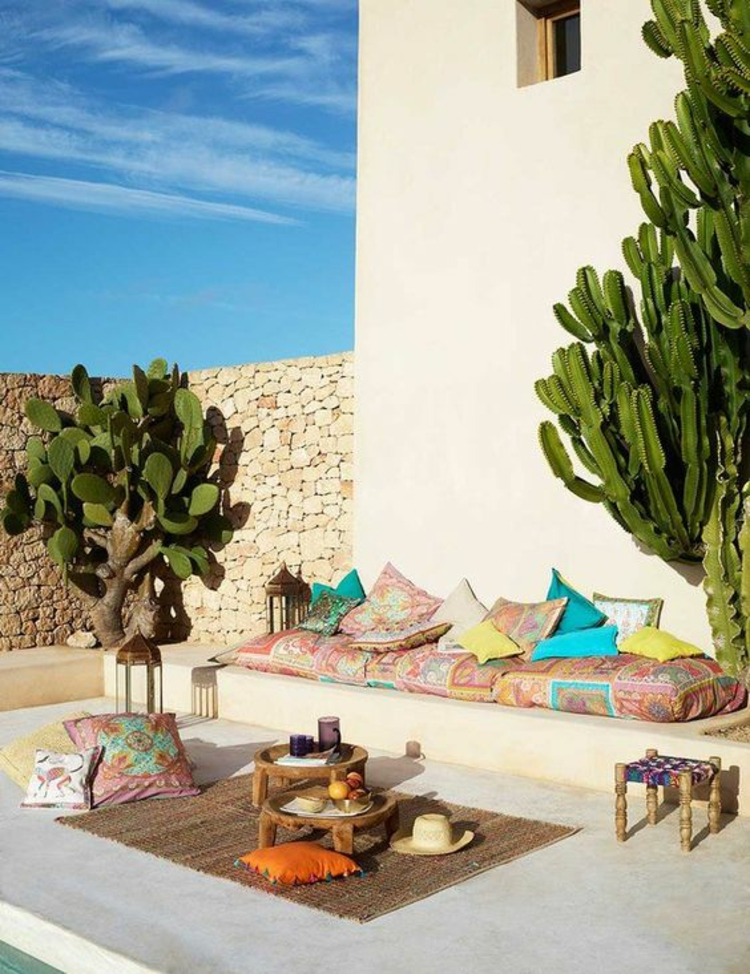 moderne Terrassengestaltung Bilder mediterraner Stil