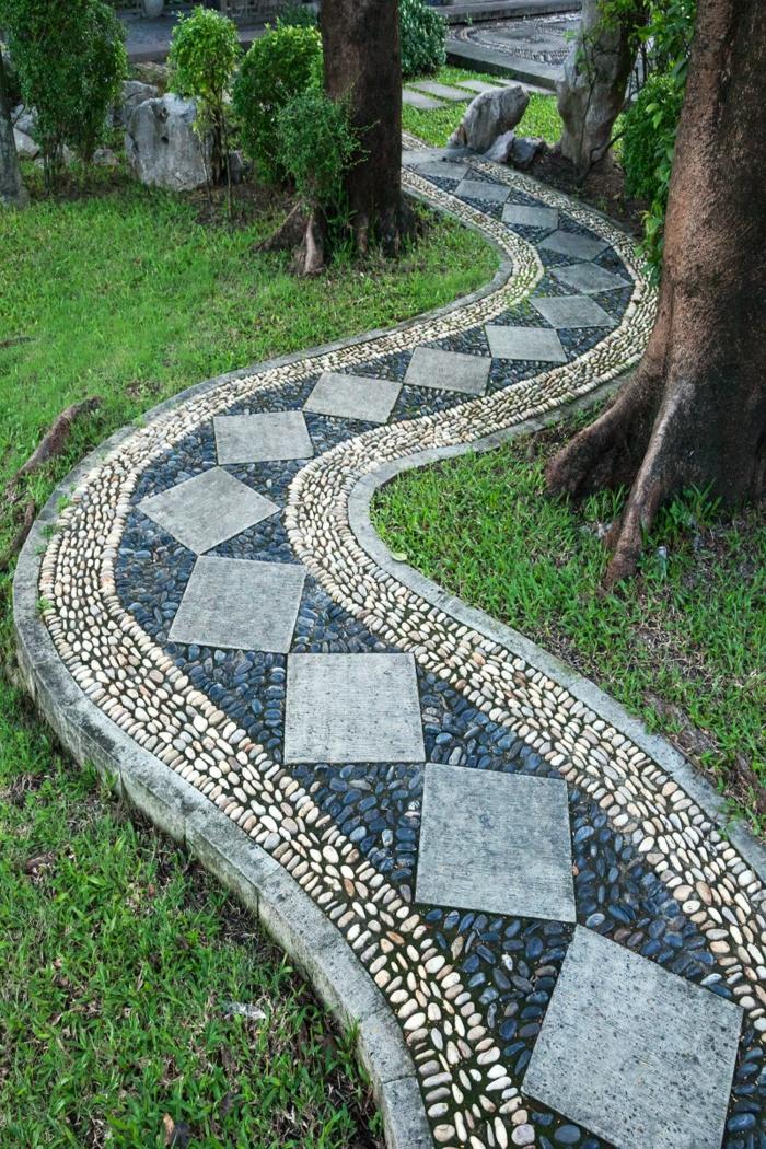136 Moderne Gartengestaltung Beispiele, Wie Sie Böden Und ... Kunstvolle Gartengestaltung Ideen