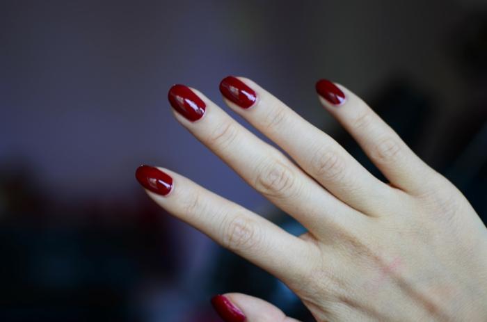 nageldesigns purpurrot nagellack design lifestyle