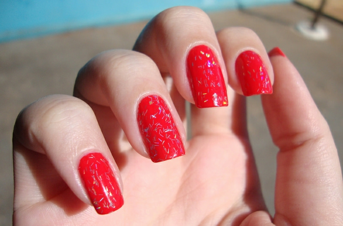 nageldesigns rote nägel lang frisch trends