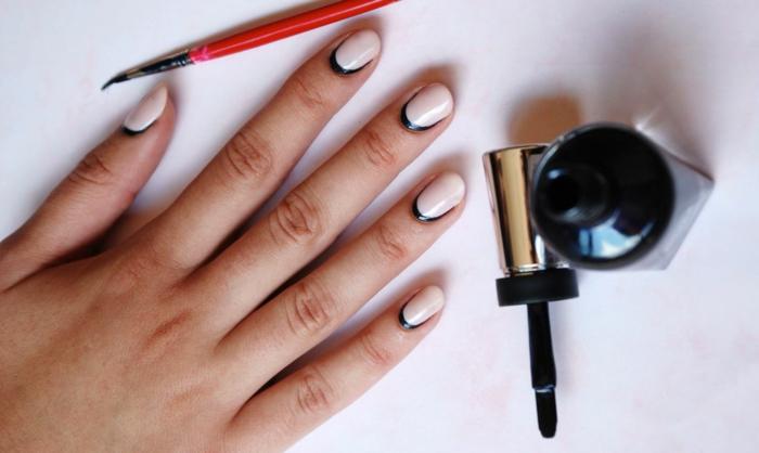 nagellack ideen ovale nägel elegante ideen nageltrends