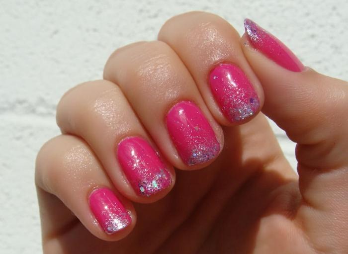 nagellack ideen rosa nägel kurz sommerlich