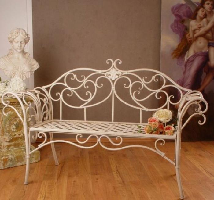 nostalgie möbel gartenbank viktorianischer stil gartenmöbel sitzbank metall