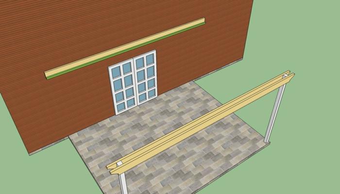 pergola bauen skizze bauplan cad konstruktion planen
