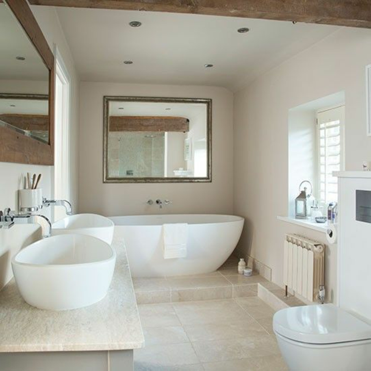 Travertin fliesen im badezimmer gestaltungsm glichkeiten for Luxury bathroom ideas uk