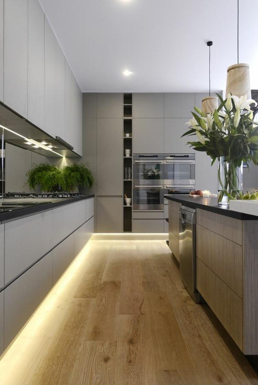 Schöne küchen bilder küchenideen moderne küchengestaltung bodenbeleuchtung
