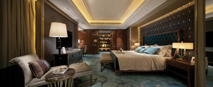 schlafzimmer einrichten beispiele teppichboden ankleidezimmer relaxsessel