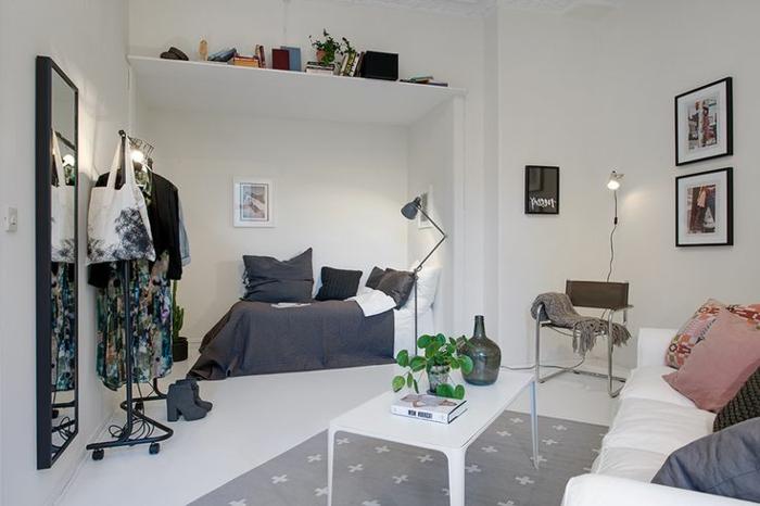 schlafzimmer weiß kleines schlafzimmer offener wohnplan