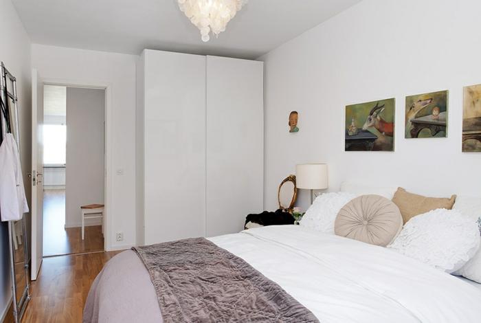 schlafzimmer weiß skandinavischer stil kleines schlafzimmer einrichten
