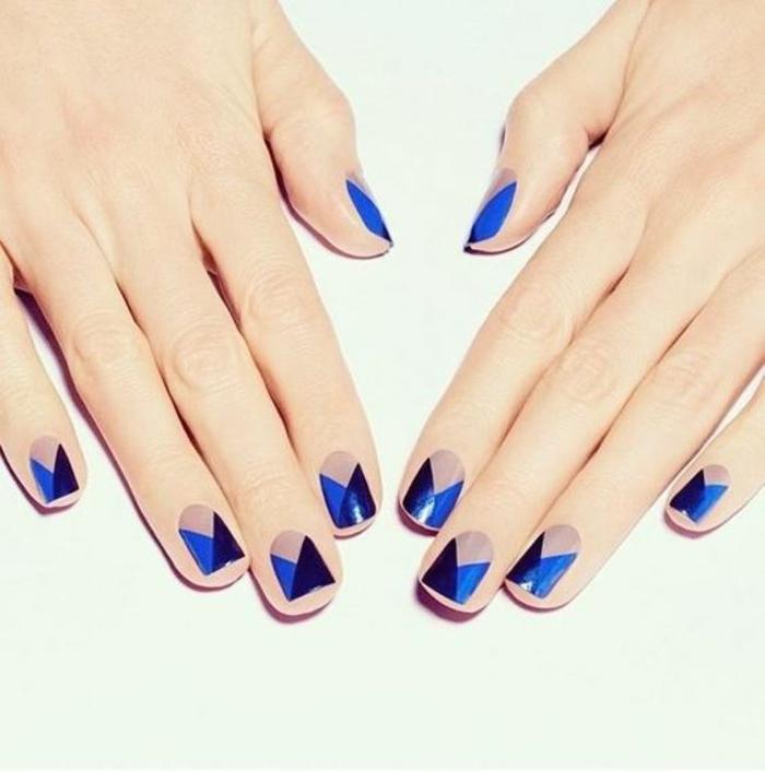 schlichte Nägel Nageldesign Bilder Fingernägel trendy Muster