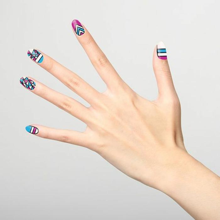 schlichte Nägel Nageldesign Bildergalerie coole Fingernägel Ideen