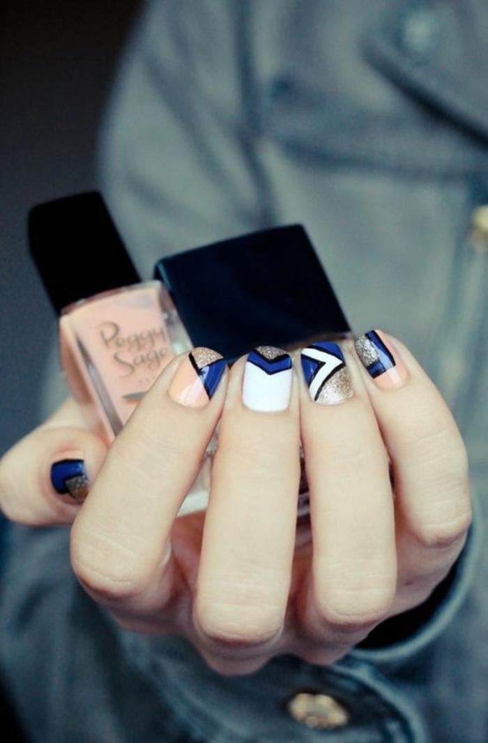 schlichte Nägel coole Nageldesign Bilder Fingernägel