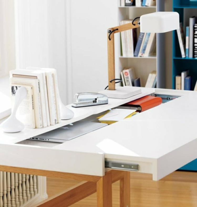 coole schreibtische erfrischen die atmosph re in ihrem. Black Bedroom Furniture Sets. Home Design Ideas