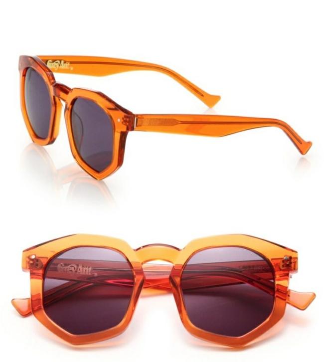 sonnenbrillen-brillenfassung-brillengestell-pexiglas-durchsichtig-orange-sternzeichen-löwe