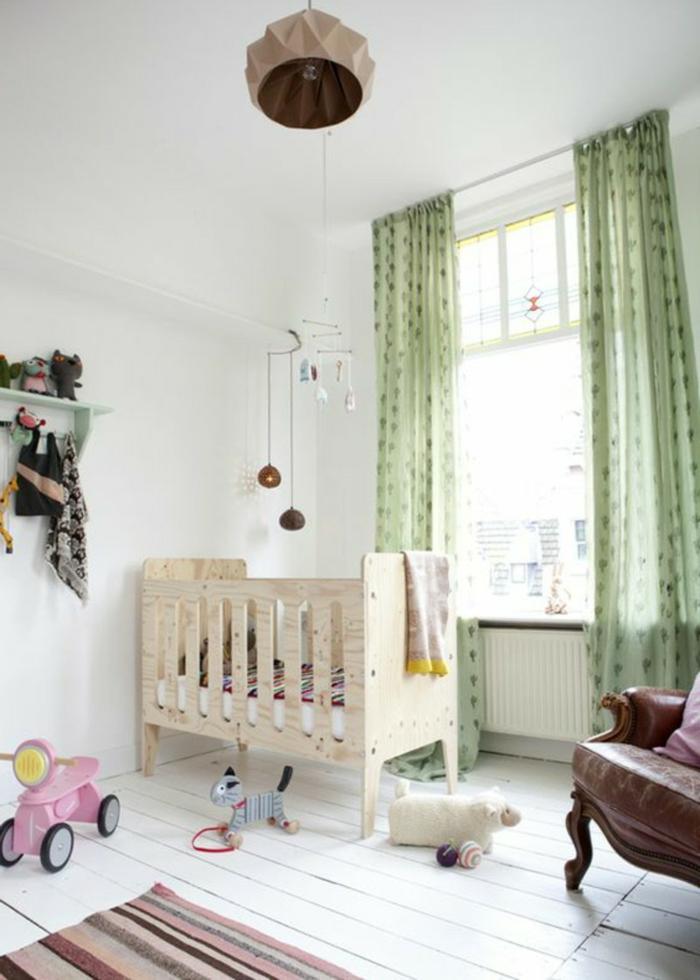 stoffmuster kombinieren kinderzimmer frische gardinen streifenteppich weiße wände