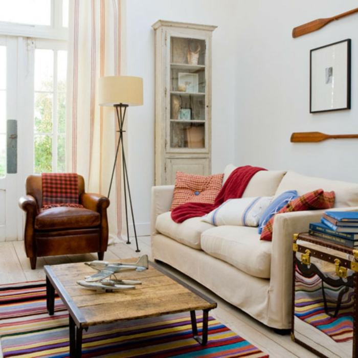 stoffmuster wohnideen wohnzimmer vintage dekoideen