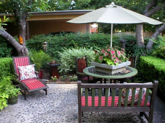 terrassenüberdachung feuerstelle gartenmöbel lesen
