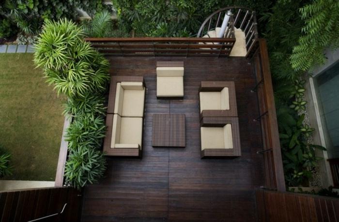 terrassenüberdachung feuerstelle gartenmöbel luftbild