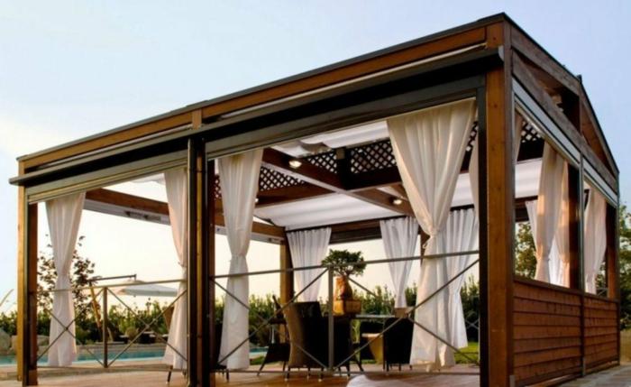 terrassenüberdachung feuerstelle gartenmöbel privat