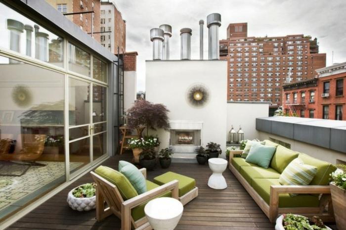 terrassenüberdachung feuerstelle gartenmöbel urban3