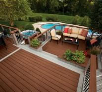 ▷ 1000 Ideen Für Moderne Terrassengestaltung Aus Stein, Holz ... Terrasse Gestaltung Dach Planen