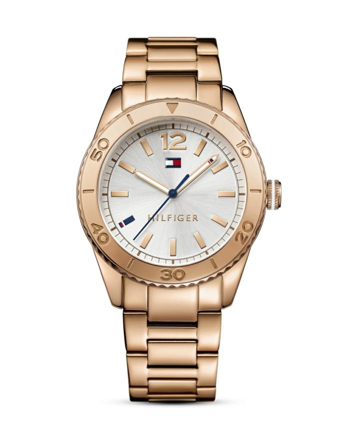 uhr rosegold armbanduhr damenuhr tommy hilfiger trend