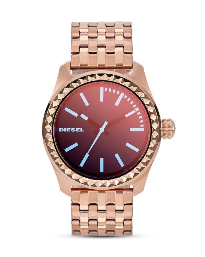 uhr rosegold armbanduhr damenuhren diesel