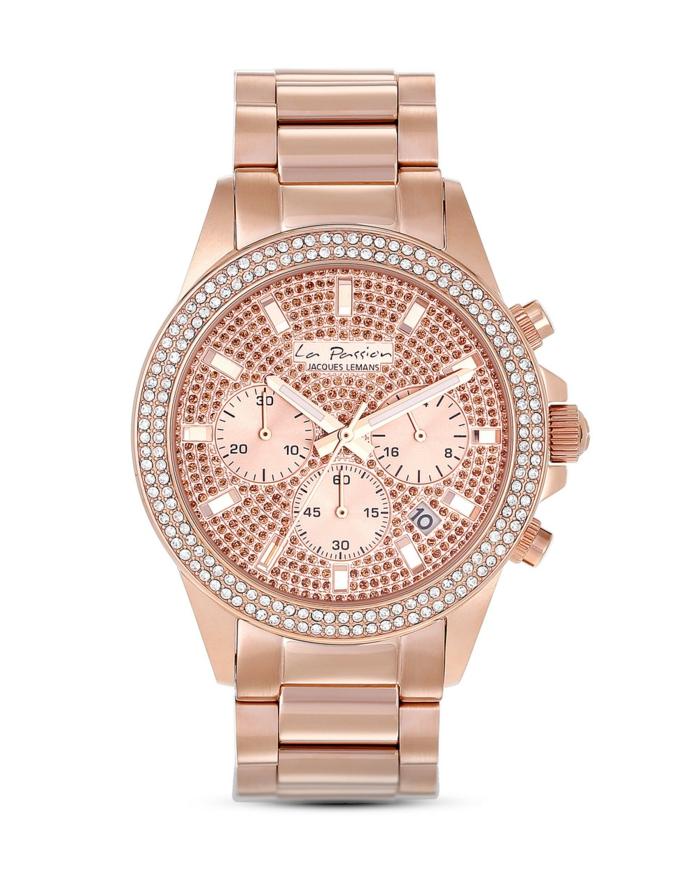 uhr rosegold armbanduhr la passion chronograph jacques lemans