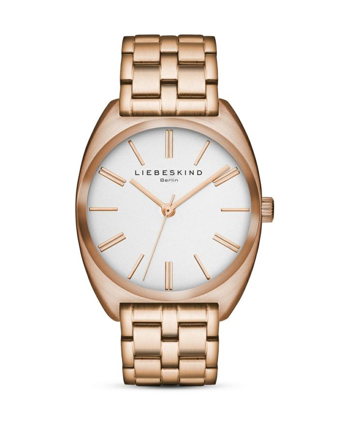 uhr rosegold armbanduhr matt designer damenuhr liebeskind berlin
