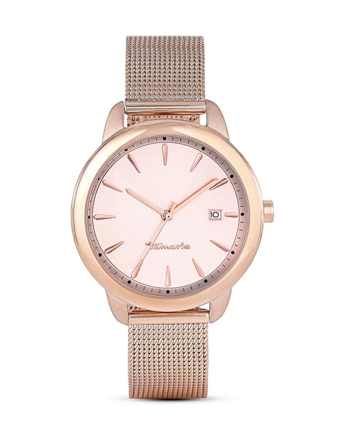 uhr rosegold armbanduhr trendig tamaris