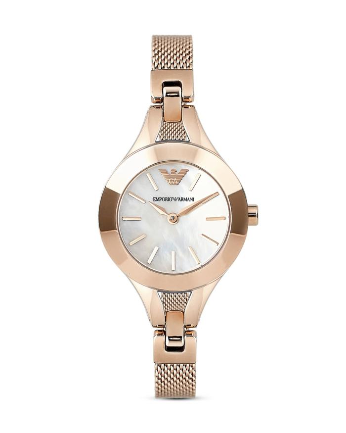 uhr rosegold damenuhr armbanduhr emporio armani