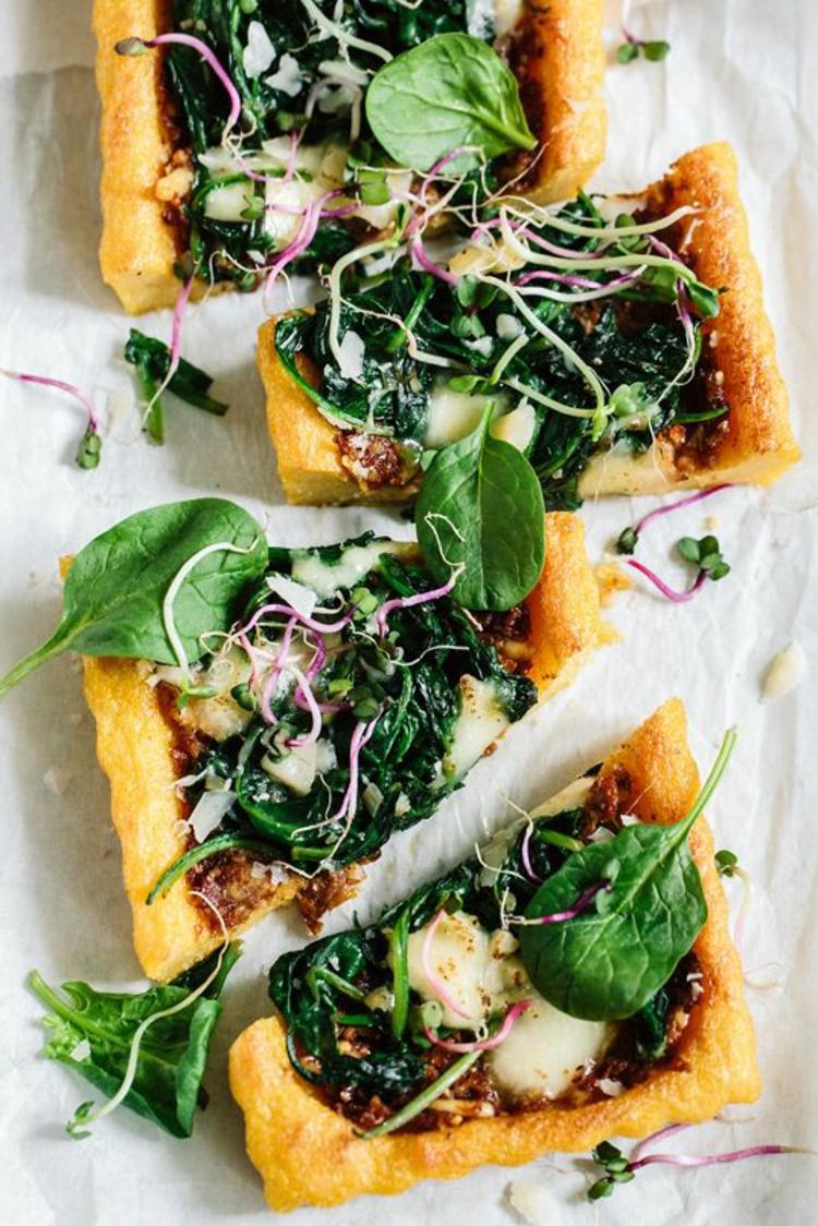 vegane Quiche Rezept Parmesan und Basilikum gesund