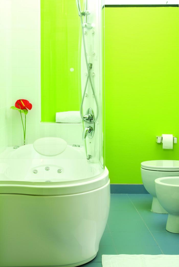 wände streichen ideen badezimmer grüne wände